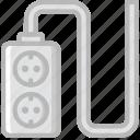 cable, connector, double, eu, plug, socket icon