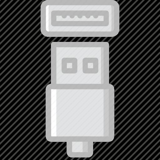 cable, connector, plug, usb icon