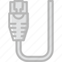 cable, connector, ethernet, plug icon