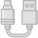 audio, cable, connector, plug, to, usb icon