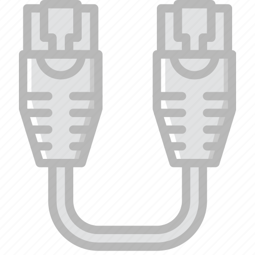 cable, connector, ethernet, plug, to, usb icon