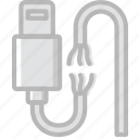 broken, cable, connector, lightning, plug icon