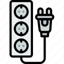 cable, connector, eu, plug, socket icon