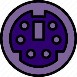 cable, connector, plug, port, ps icon