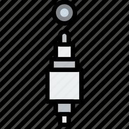 audio, cable, connector, plug icon