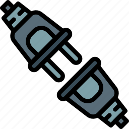 cable, connector, plug, unpluged icon