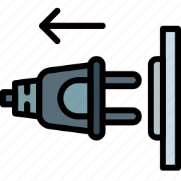cable, connector, out, plug icon