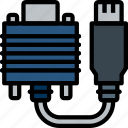 cable, connector, dvi, plug icon