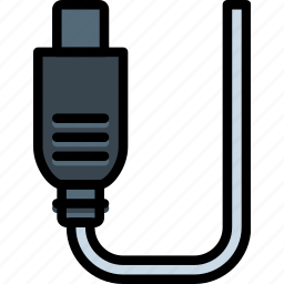 cable, connector, plug, ps icon