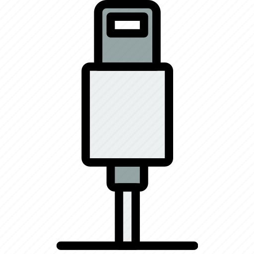 cable, connector, iphone, lightning, plug icon