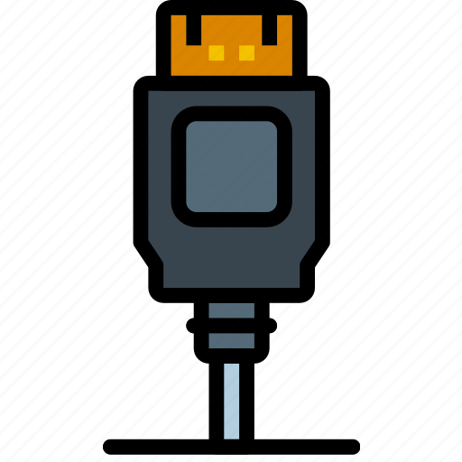 cable, connector, display, plug, port icon