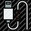 broken, cable, connector, lightning, plug