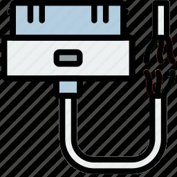 broken, cable, connector, iphone, plug icon