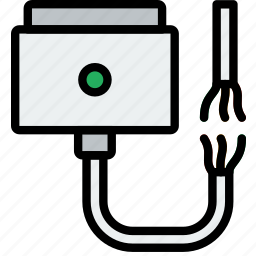 broken, cable, connector, magsafe, plug icon
