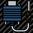 broken, cable, connector, dvi, plug