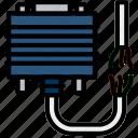 broken, cable, connector, dvi, plug icon