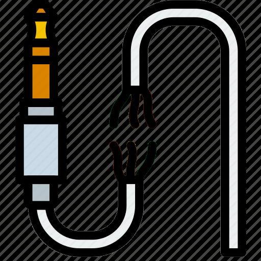 audio, broken, cable, connector, plug icon