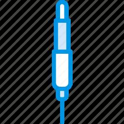 aux, cable, connector, plug icon