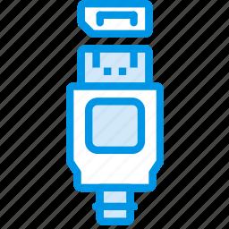 cable, connector, display, plug, port icon