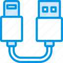 plug, usb, cable, lightning, connector, to