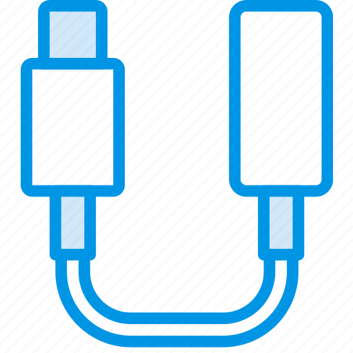 adaptor, cable, connector, headphones, iphone, plug icon