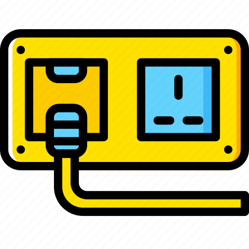 cable, connector, plug, socket, wall icon