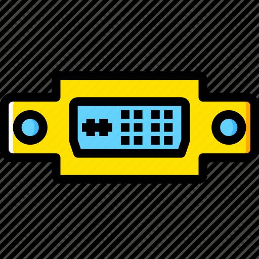 a, cable, connector, dvi, plug, port icon