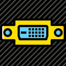 cable, connector, d, dvi, plug, port icon