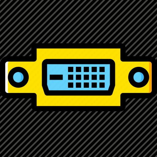 Plug, dvi, d, cable, connector, port icon
