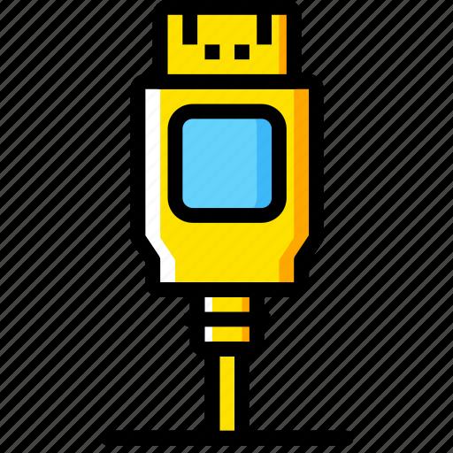 Connector, plug, display, cable, port icon