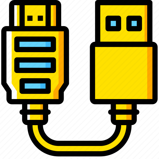 Cable, connector, hdmi, plug, to, usb icon - Download on Iconfinder