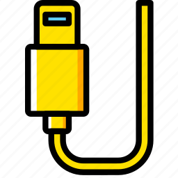 cable, connector, lightning, plug icon