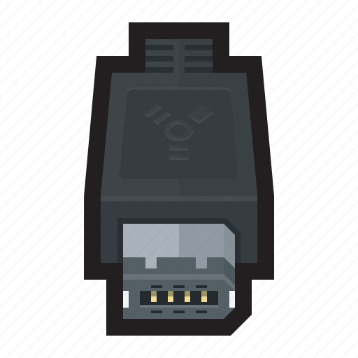cable, connector, external, firewire, hard drive icon