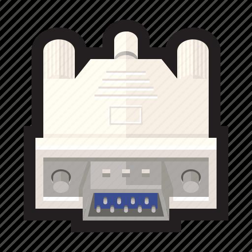 cable, mouse, peripheral, printer, serial, vga icon