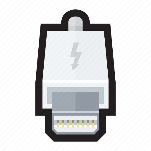 apple, charger, display, lightning, thunderbolt icon