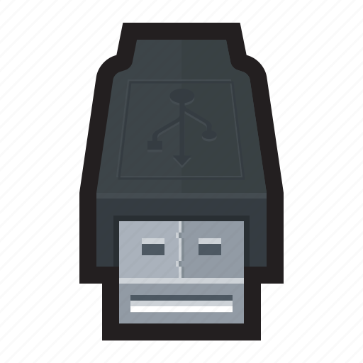 cable, connection, external, usb, usb 2.0 icon