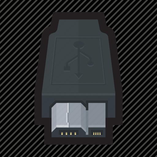 external, hard drive, micro, usb, usb 3.0 icon