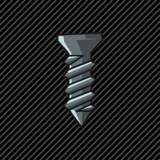 construction, repair, screw, steel, tool icon