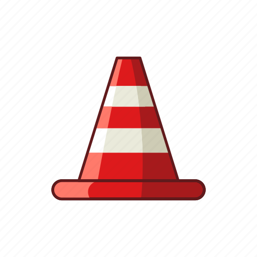 attention, barier, cone, construction, equipment, safety, traffic icon