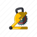 blade, circular, construction, saw, sawblade icon
