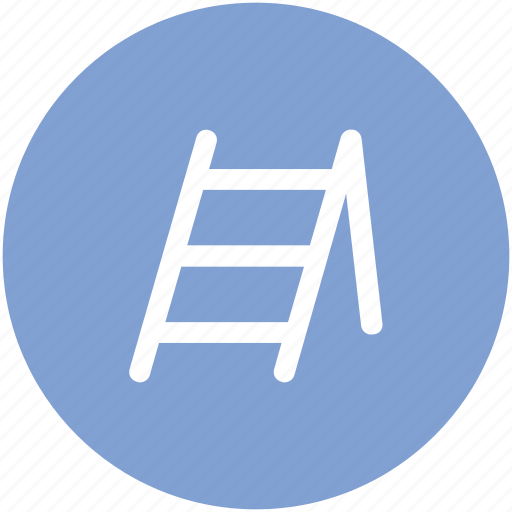 construction ladder, ladder, railing stair, staircase, stairs, steps, wood stairs icon