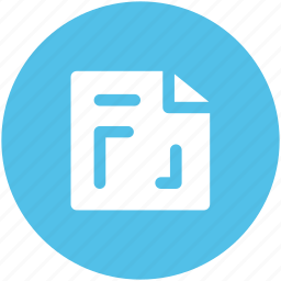document, extension, file, instruction, measurement paper icon