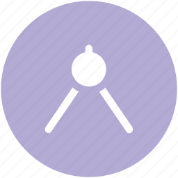 compass, divider, drawing, geometric compass tool, geometry, geometry tool, protector icon