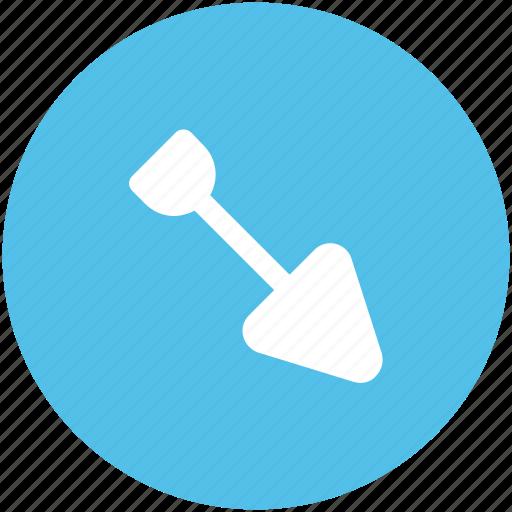 digging trowel, gardening tools, hand tool, planting trowel, trowel icon