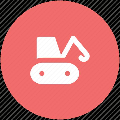 bulldozer, construction machinery, crane, excavator, heavy equipment, heavy machinery, lifter icon