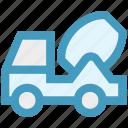 cement truck, concrete, concrete truck, construction, truck, vehicle icon