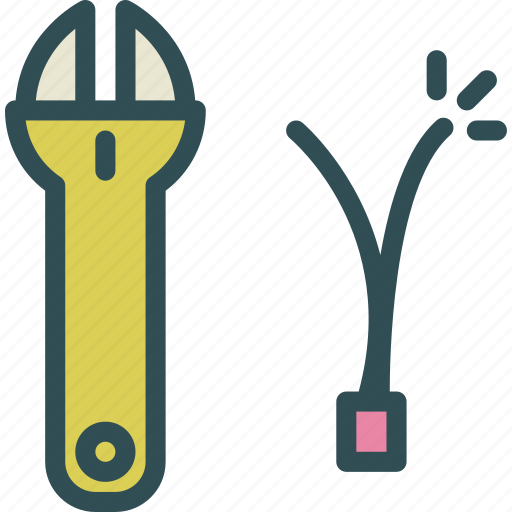 cable, claws, electrician, mechanicpinch, tool icon