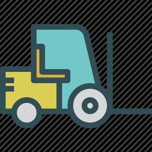 building, emptylift, er, heavy, materials, transport, truck icon