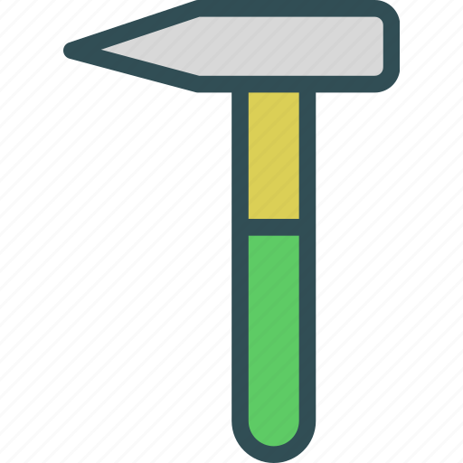 hammer, instruments, manual, nails, tool, work icon