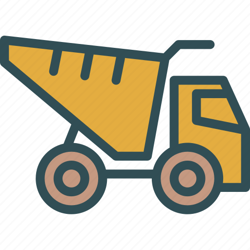 car, material, transport, truck icon